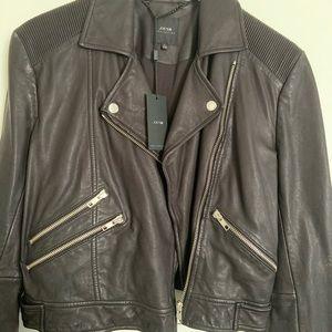Black Joes Jean Leather Moto Jacket